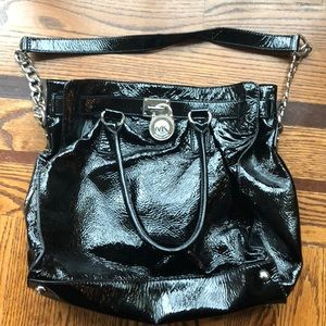Michael Kors black patent leather bag